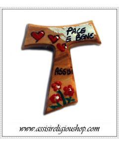 Tau dipinto Assisi Pace e Bene